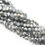 Chinese Glass Crystal, Round, Silver, 2mm, 190 pcs per strand