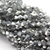 Chinese Glass Crystal, Bicone, Silver, 4mm, 100 pcs per strand