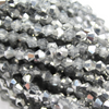 Chinese Glass Crystal, Bicone, Silver, 2mm, 190 pcs per strand