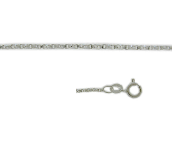 Chain, Twisted Box, Sterling Silver, 18inch - 1pc