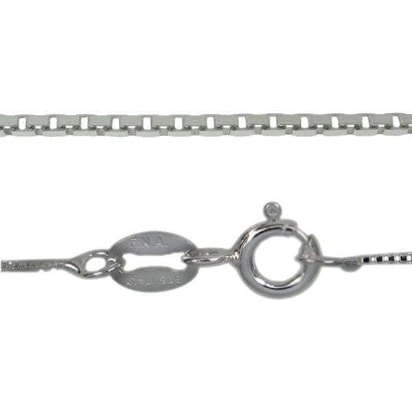 Chain, Smooth Box, Sterling Silver, 22inch - 1pc