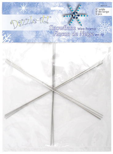 Dazzle It - Snowflake Wire Frame, 21 gauge, 9 inches, 5pcs