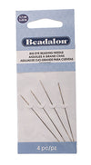 Big Eye Beading Needle 2.25inch - Stainless Steel - 4pc