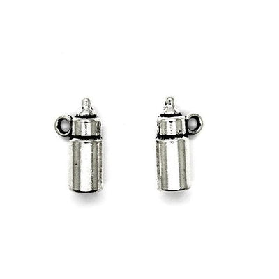 Charms,Baby Bottle, Silver, 15mm X 9mm, Sold Per pkg of 6