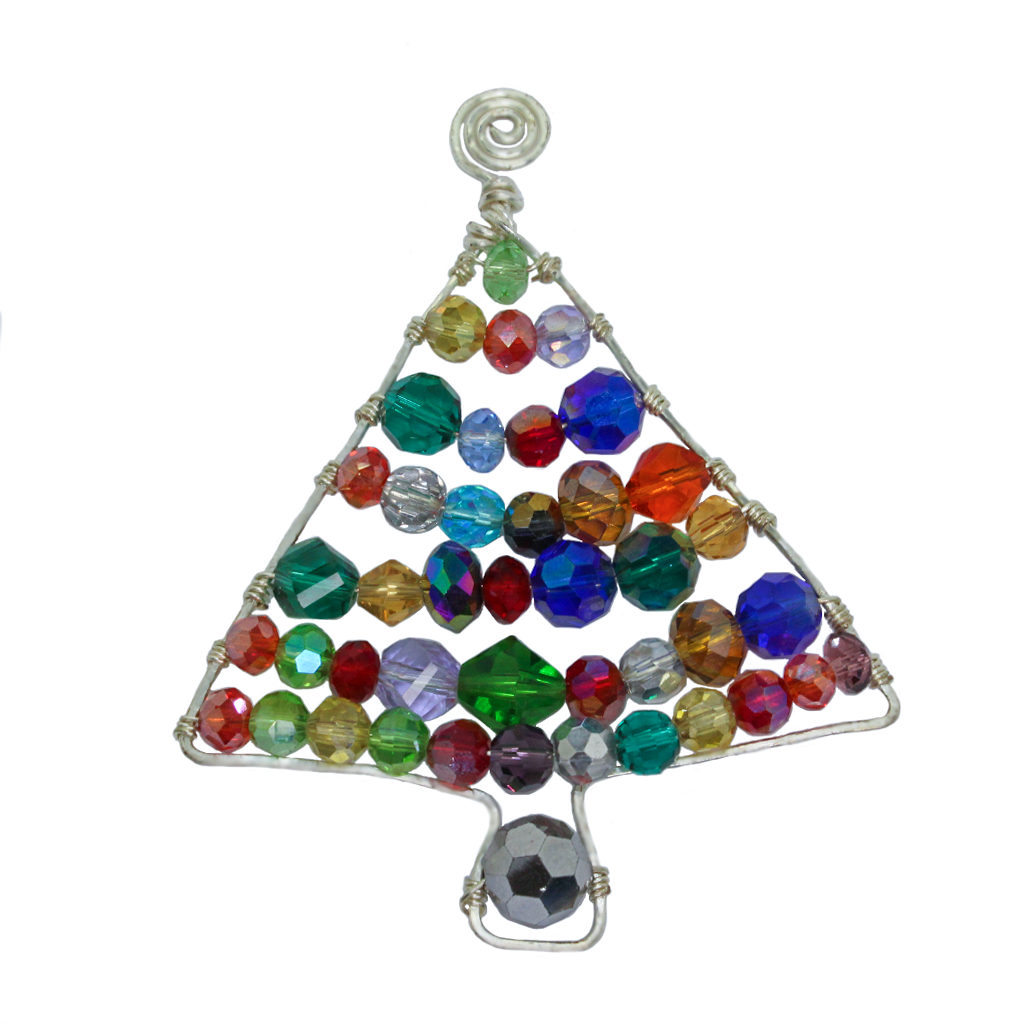 Beaded Wire Christmas Tree Kit + Instructions
