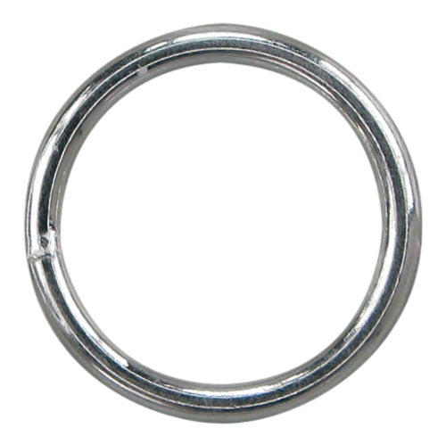 Closed Jump Rings, Sterling Silver, 8mm x 1.2mm , 2pcs