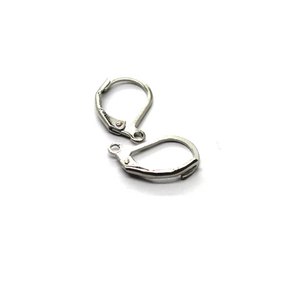 Earrings, Silver, Alloy, Lever Back Earrings, 13mm x 10mm, sold per pkg 4 pairs