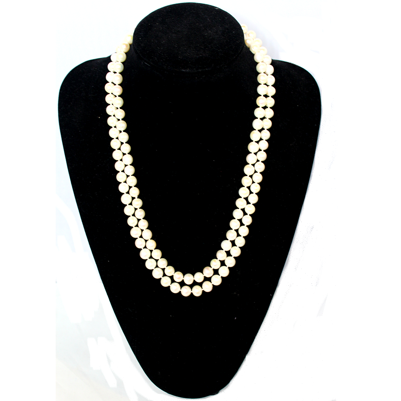 Fresh Water Pearl Necklace, AAA Quality, Ivory, 8.5-9mm, 47 inch