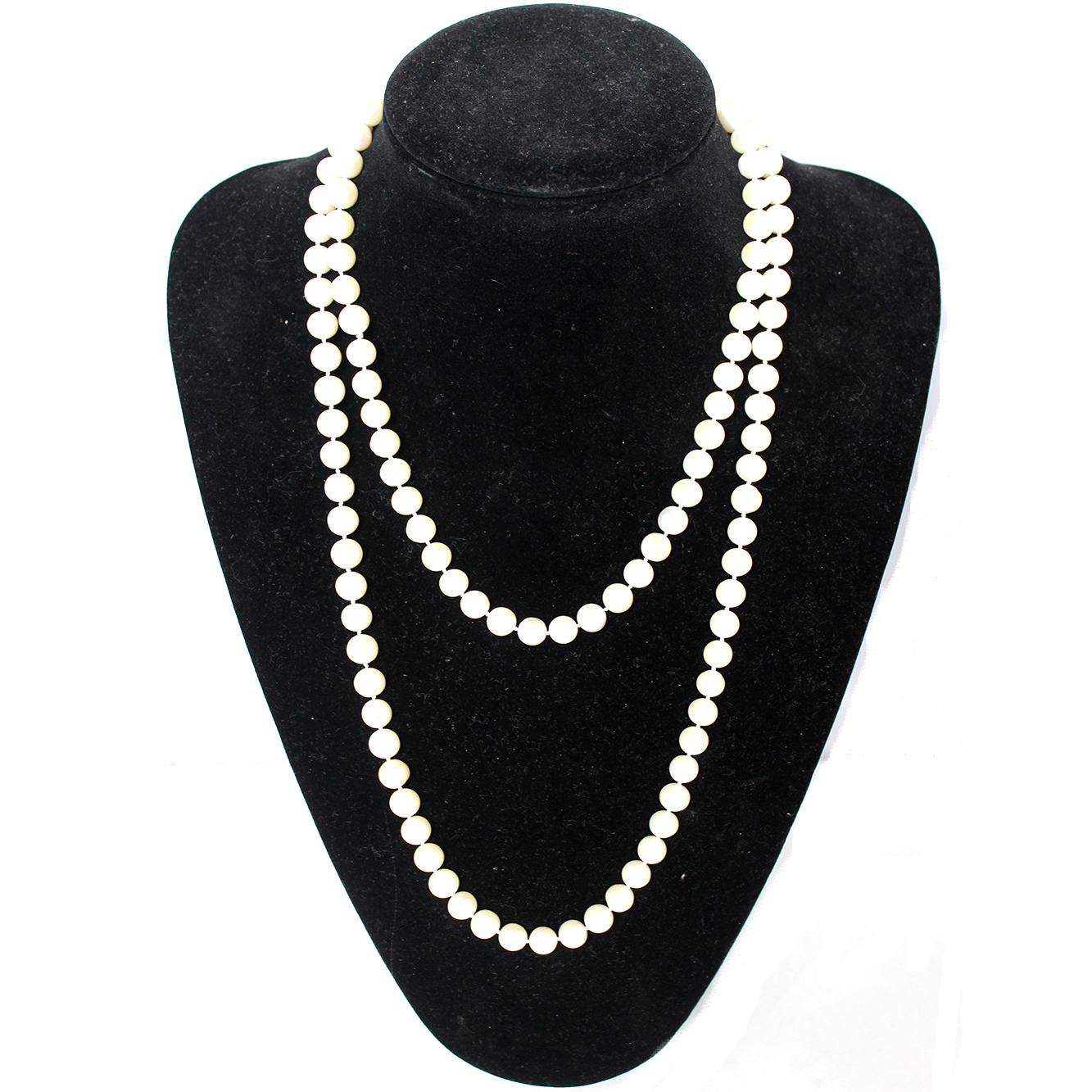 Fresh Water Pearl Necklace, Ivory, AA+ Quality, 8.5mm, 47 inch