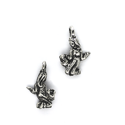 Charms, Gardening Lady, Silver, Alloy, 17mm X 10mm X 3mm, Sold Per pkg of 8