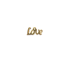 Charm, Love Charm, Gold, Alloy, 6mm X 13mm X 1mm, Sold Per pkg of 2