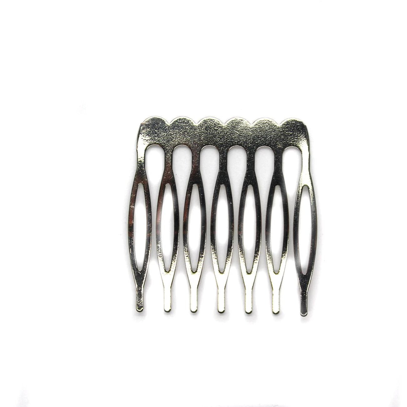 Hair Comb, Silver Alloy, 40mm X 38mm, 4pcs
