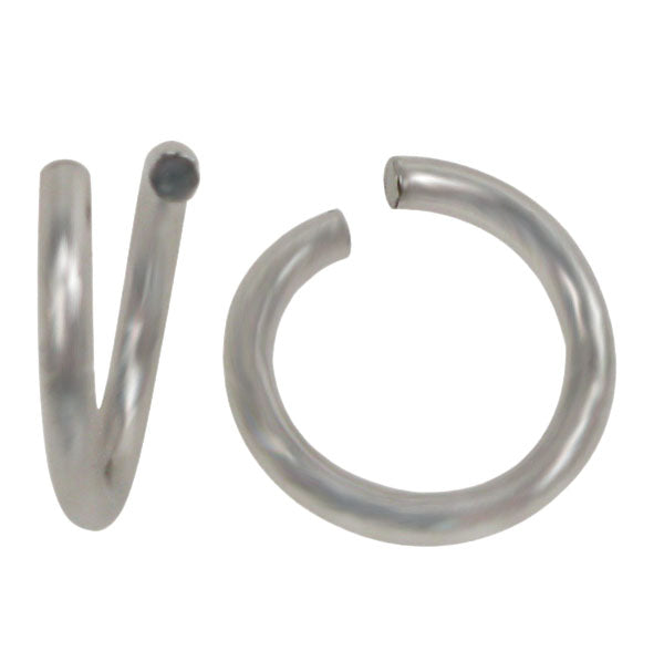 Jump Rings, Rhodium Plated on Sterling Silver, 7mmx1mm, Sold Per pkg of 2
