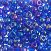 Czech 6/0 - Transparent Iris Navy Blue