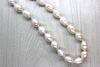 Fresh Water Pearls, Off White, 10mm x 15mm - 1mm (hole), 25 pcs per strand