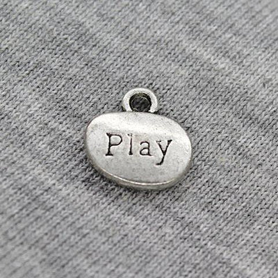 Charms, Hand & Play, Silver, Alloy, 18mm X 18mm X 9mm, Sold Per pkg of 6