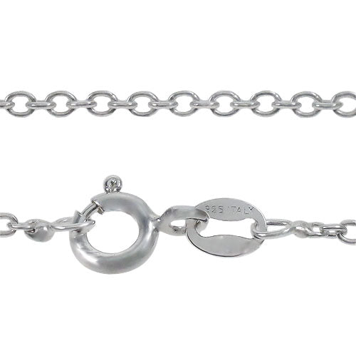 Chain, Smooth Oval, Sterling Silver, 16inch - 1pc