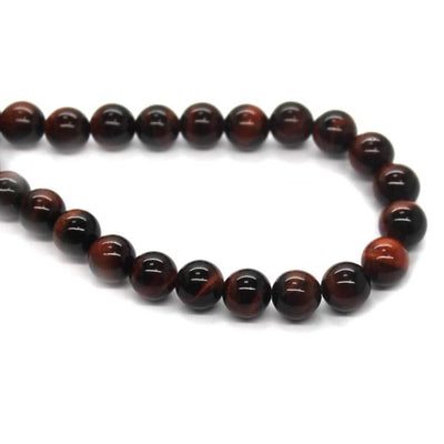 Red Tiger Eye, Semi-Precious Stone, 8mm, 46 pcs per strand