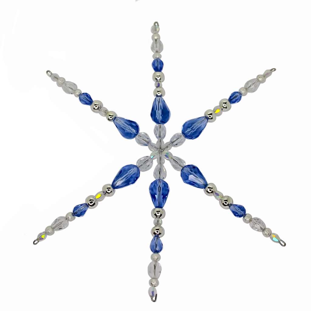 Beadfest Zoom Class, Wired Snowflake, Nov 28 @ 3:00 PM