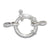 Clasp, Spring Clasp, Sterling Silver, 18mm, Sold Per pkg of 1