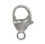 Clasp, Lobster Clasp, Sterling Silver, 8mm L, Sold Per pkg of 2