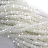 Chinese Glass Crystal, Round, White Opaque AB, 2mm, 190 pcs per strand