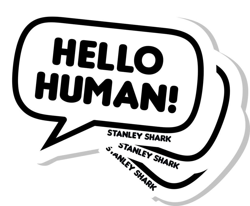 Hello Human Stickers