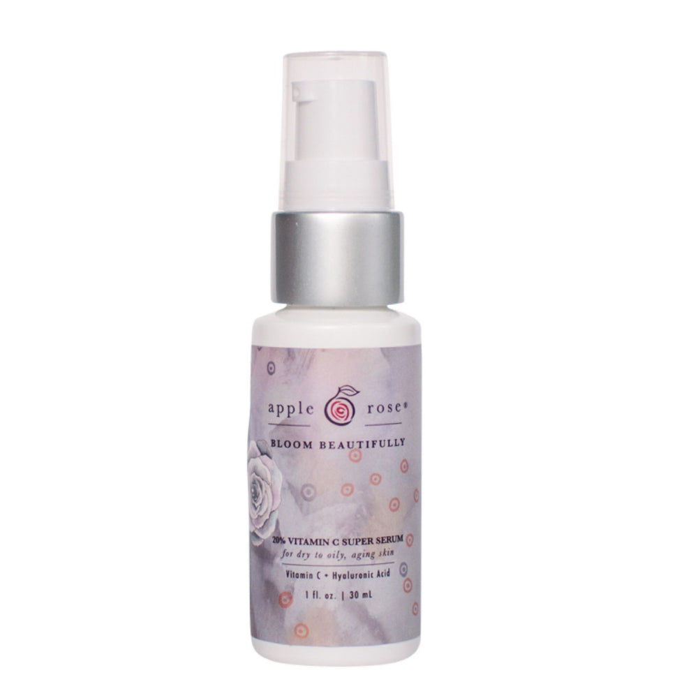Bloom Beautifully 20% Vitamin C Super Serum from Apple Rose Beauty natural and organic skin care and organic beauty