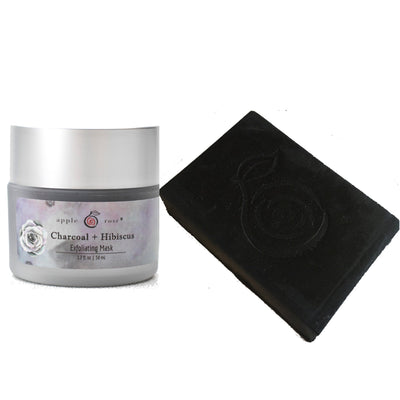 Charcoal + Hibiscus Bundle from Apple Rose Beauty natural and organic skin care and organic beauty