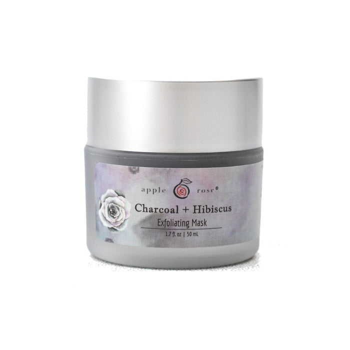 Charcoal + Hibiscus Exfoliating Mask from Apple Rose Beauty natural and organic skin care and organic beauty