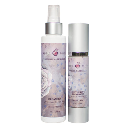 Clear Skin + Night Bundle from Apple Rose Beauty natural and organic skin care and organic beauty