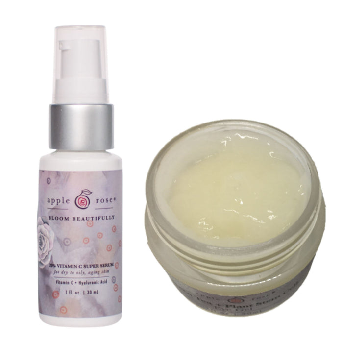 Eye Duo Bundle from Apple Rose Beauty natural and organic skin care and organic beauty