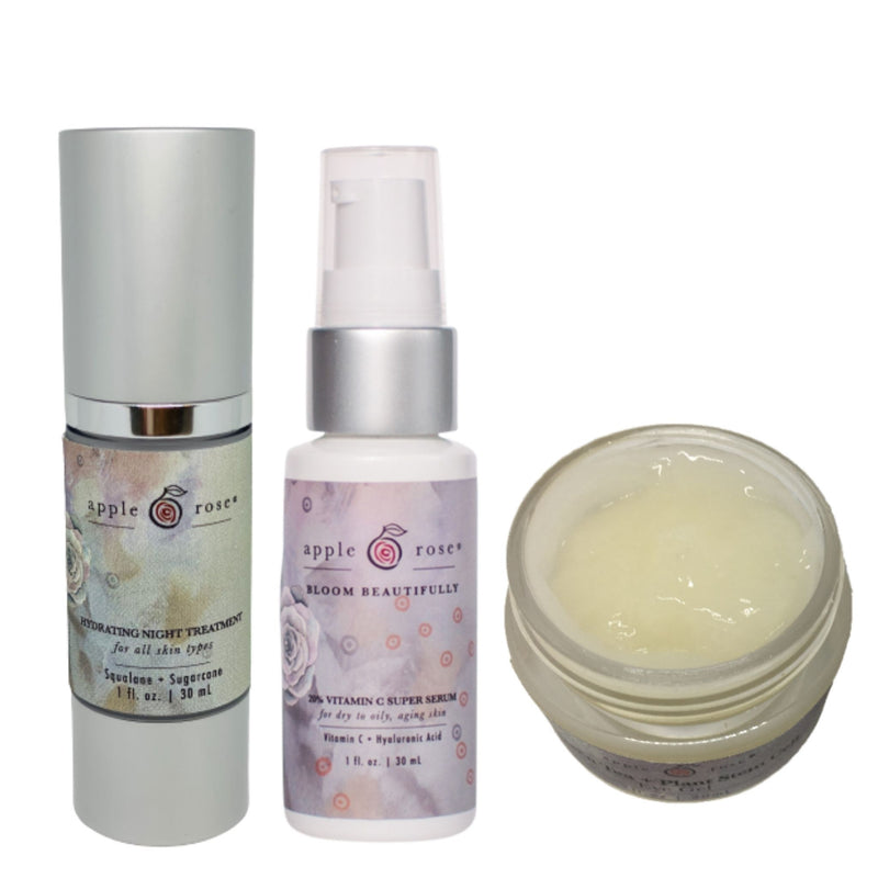 Eye Duo + Nighttime Care Bundle from Apple Rose Beauty natural and organic skin care and organic beauty