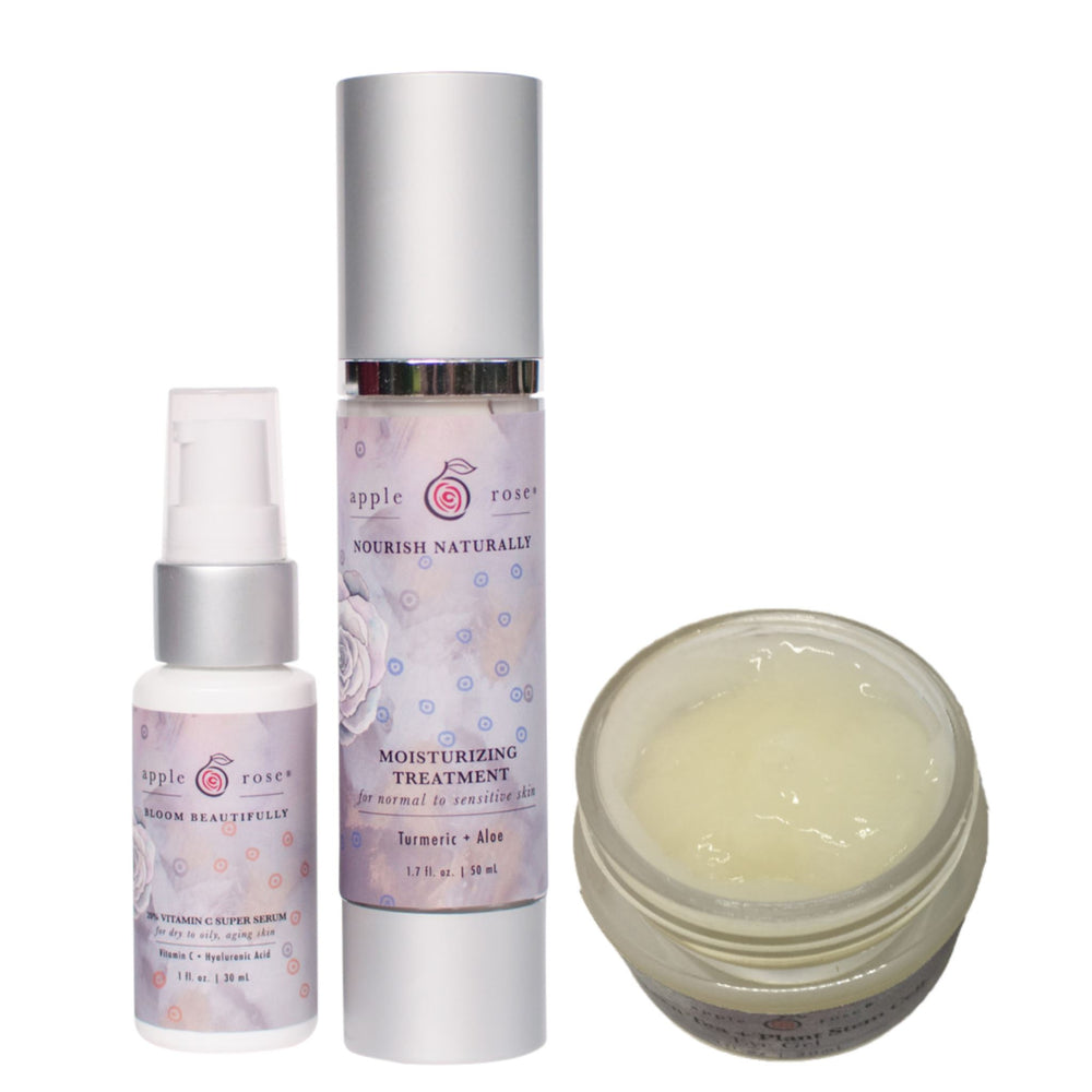 Graceful Aging + Eyes Bundle from Apple Rose Beauty natural and organic skin care and organic beauty