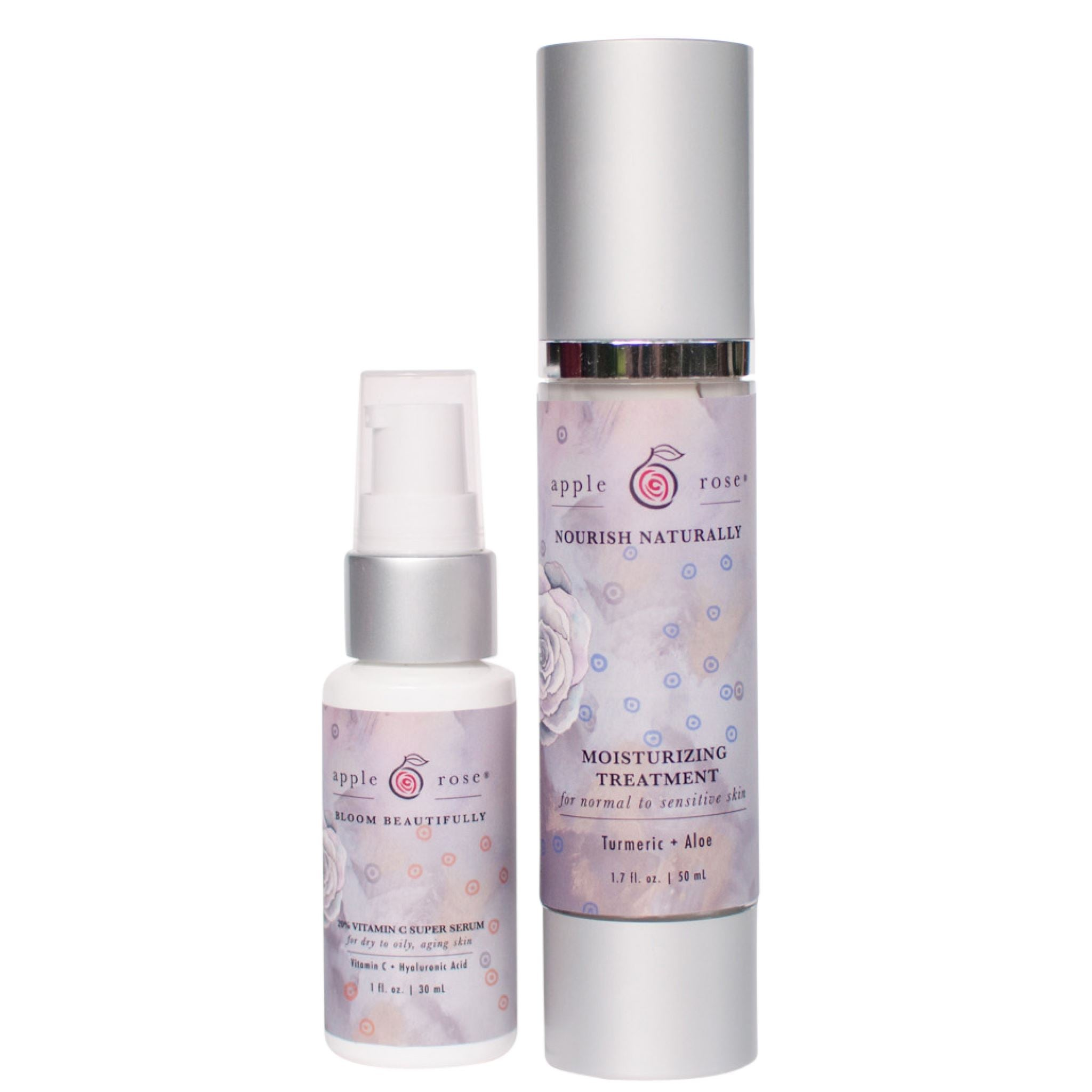 Graceful Aging Moisture Rich Bundle from Apple Rose Beauty natural and organic skin care and organic beauty