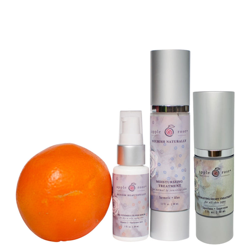 Graceful Aging + Nighttime Care Bundle from Apple Rose Beauty natural and organic skin care and organic beauty