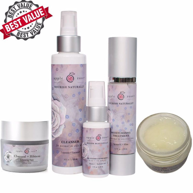 Ultimate Skincare System from Apple Rose Beauty natural and organic skin care and organic beauty