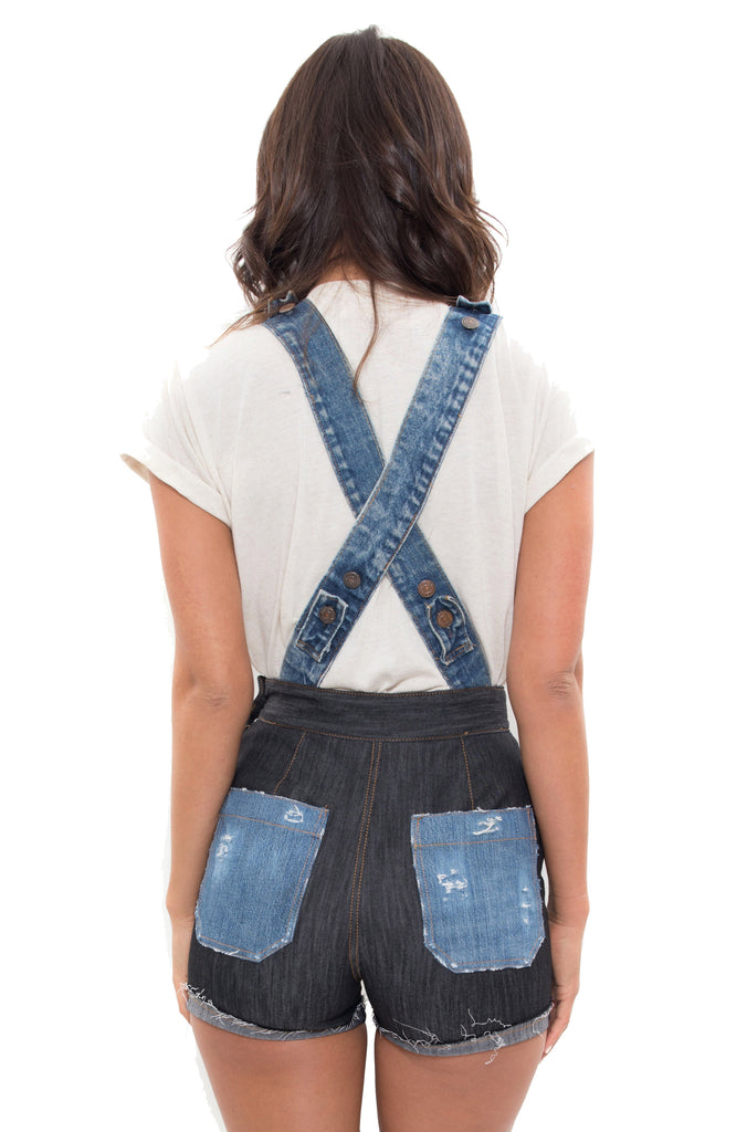 repurposed denim overalls boca raton