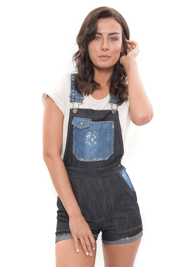 repurposed denim shortall boca raton