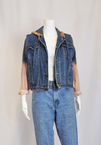 Classic Denim Boyfriend Jacket-XS