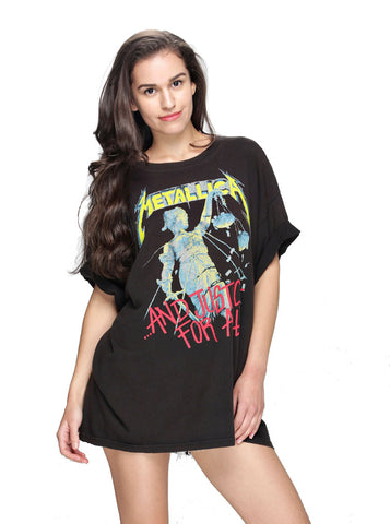 *Metallica Crochet Back Tee