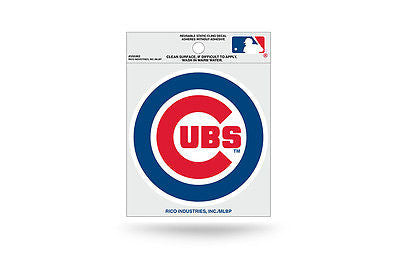 MLB Chicago Cubs Static Window Cling Sticker Team Logo Decal