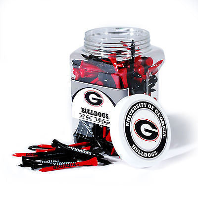 NCAA Georgia Bulldogs Golf Tee Jar 175 Count Club Course Driver Team Accessory