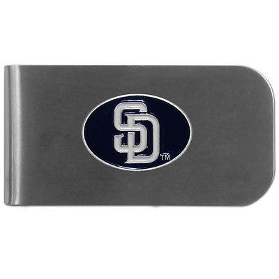 MLB San Diego Padres Bottle Opener Money Clip Metal Cash Holder Emblem