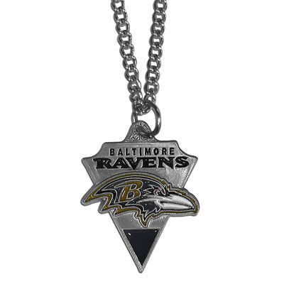"NFL Baltimore Ravens Classic Chain Necklace Team Pendant 20"" Triangle Jewelry"
