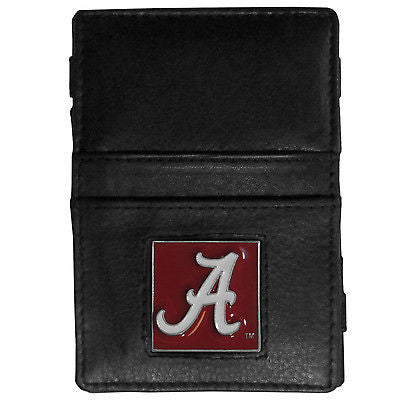 NCAA Alabama Crimson Tide Jacobs Ladder Wallet Leather Magic Cash Holder