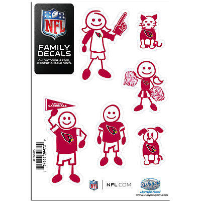 NFL Arizona Cardinals Family Decal Pride Team Sticker Car Auto Sticker 6 Logo