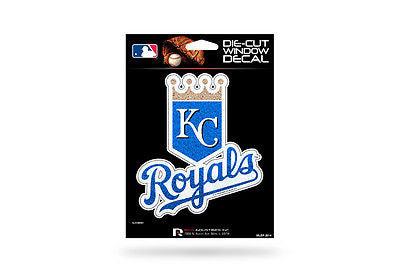 MLB Kansas City Royals Bling Die-Cut Decal Glitter Sparkle Car Auto Sticker