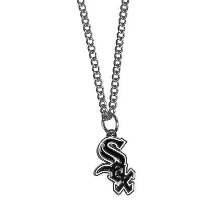 "MLB Chicago White Sox Necklace With Team Pendant 20"" Chain Gameday Jewelry"