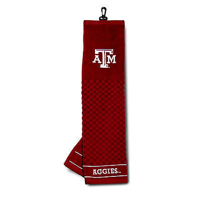 "NCAA Texas A&M Aggies Golf Towel Embroidered Tri-Fold 16"" x 25"" Course Club Bag"